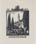 Bookplate of Judith Leslie; Lionel Lindsay (b.1874, d.1961); 1943; 2017.368