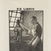 Bookplate of H P Mortlock; Lionel Lindsay (b.1874, d.1961); 1950; 2017.375