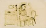 [untitled - seated woman]; Charles Blackman (Australian, b.1928, d.2018); 2017.138.7