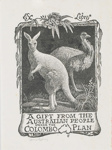 Bookplate - A Gift from the Australian People under the Colombo Plan; Lionel Lindsay (b.1874, d.1961); 1954; 2017.385
