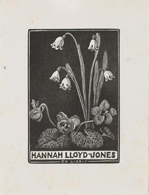 Bookplate of Hannah Lloyd-Jones; Lionel Lindsay (b.1874, d.1961); 1942; 2017.371