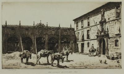 The convent of Huelgas near Burgos (Huelgas); Lionel Lindsay (b.1874, d.1961); 1927; 2016.55