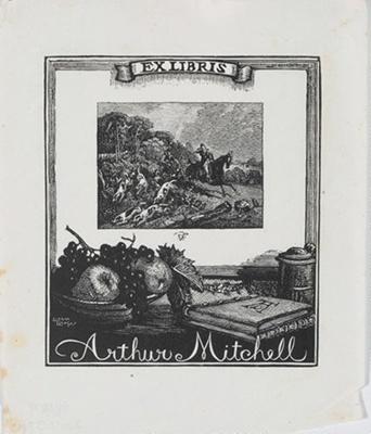 Bookplate of Arthur Mitchell; Lionel Lindsay (b.1874, d.1961); 1948; 2017.374