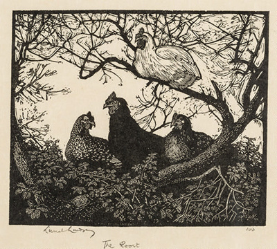 The Roost; Lionel Lindsay (b.1874, d.1961); 1924; 2016.145