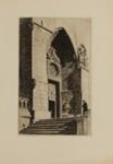 A Doorway,Burgos Cathedral.; Lionel Lindsay (b.1874, d.1961); 1927; 2016.49