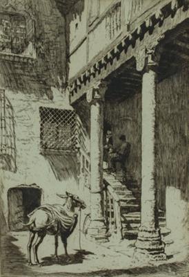 A Courtyard, Segovia; Lionel Lindsay (b.1874, d.1961); 1929; 2016.72