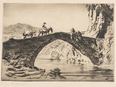 A Bridge, Estremadura; Lionel Lindsay (b.1874, d.1961); 1926; 2016.42