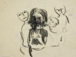 Four Figures; Charles Blackman (Australian, b.1928, d.2018); Circa 1950; 2008.009