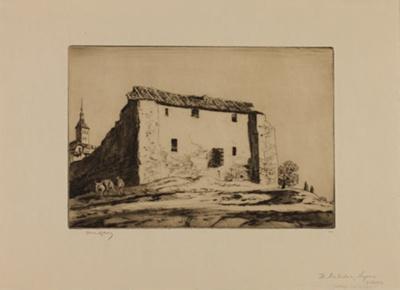 The Matadero, Segovia; Lionel Lindsay (b.1874, d.1961); 1926; 2016.45