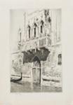 Marble balcony Palazzo Chiarabia, Venice (The Venetian Balcony); Lionel Lindsay (b.1874, d.1961); 1937; 2017.339
