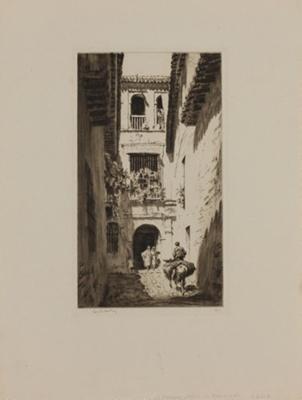 A Narrow Street, Granada; Lionel Lindsay (b.1874, d.1961); 1927; 2016.53