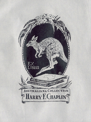 Bookplate for Australiana Collection Harry F. Chaplin; Lionel Lindsay (b.1874, d.1961); 1962; 2004.087