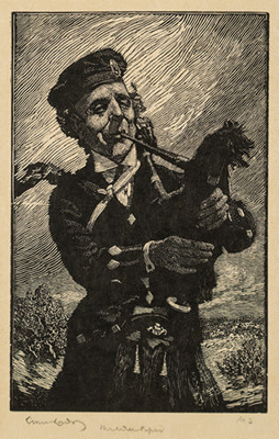 The Wee Piper; Lionel Lindsay (b.1874, d.1961); 1925; 2016.151
