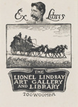 Bookplate of the Lionel Lindsay Art Gallery and Library Toowoomba; Lionel Lindsay (b.1874, d.1961); 1957; 2017.384