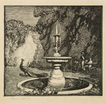 The Fountain; Lionel Lindsay (b.1874, d.1961); Circa 1922; 2016.113