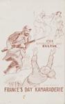 1914 Germany's Day Kultur. 1917 France's Day Kamaraderie; Lionel Lindsay (b.1874, d.1961); 1914-1918; 2017.388