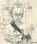 Left-handed self portrait; Tom Carment (Australian, b.1954); 2011; 2015.73