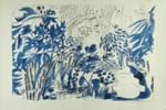 White Cats Garden; Charles Blackman (Australian, b.1928, d.2018); 1976; 2012.063.b