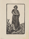 The Gypsy; Lionel Lindsay (b.1874, d.1961); 1922; 2017.361