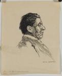Portrait of Christopher Brennan; Lionel Lindsay (b.1874, d.1961); 1914; 2016.94