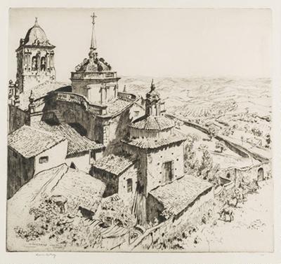 Jerez De Los Cabelleros, Estremadura, Spain (Xeres...); Lionel Lindsay (b.1874, d.1961); 1928; 2016.68