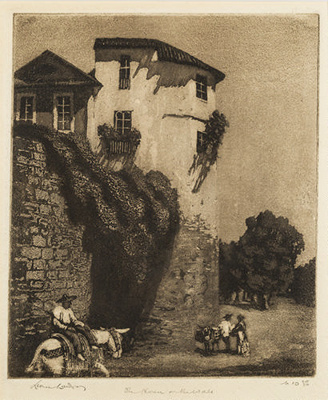 The house on the wall, Cordova; Lionel Lindsay (b.1874, d.1961); 1923; 2016.39