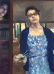 Started Drunk, Finished Sober, Self Portrait with Sarah Lund; Rachel Milne (b.1978); 2014; 2015.153