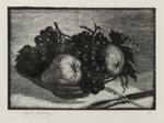 Pears & Grapes; Lionel Lindsay (b.1874, d.1961); 1925; 2016.155