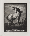 Bookplate of Campbell Dodgson; Lionel Lindsay (b.1874, d.1961); 1923; 2017.365