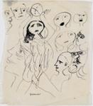 Faces; Charles Blackman (Australian, b.1928, d.2018); Circa 1951; 2008.020