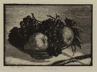 Pears & Grapes; Lionel Lindsay (b.1874, d.1961); 1925; 2016.154