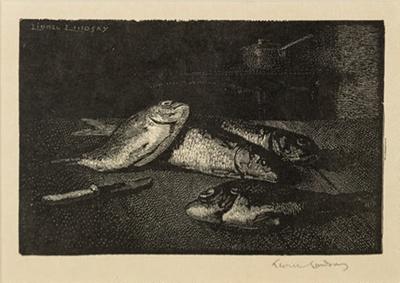 Fish; Lionel Lindsay (b.1874, d.1961); 1924; 2016.131