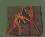 Two Figures Performing; Charles Blackman (Australian, b.1928, d.2018); 2008.019