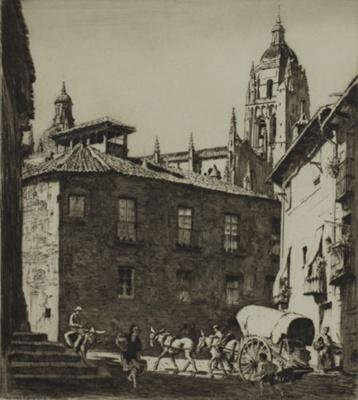 A little square, Segovia; Lionel Lindsay (b.1874, d.1961); 1927; 2016.51