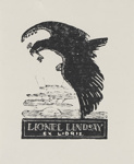 Bookplate of Lionel Lindsay; Lionel Lindsay (b.1874, d.1961); 2017.370