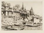 The Burning Ghat, Benares; Lionel Lindsay (b.1874, d.1961); 1930; 2016.81