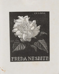 Bookplate of Freda Nesbitt; Lionel Lindsay (b.1874, d.1961); 1940; 2017.377