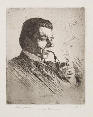 Portrait of Christopher Brennan; Lionel Lindsay (b.1874, d.1961); 1914; 2016.32