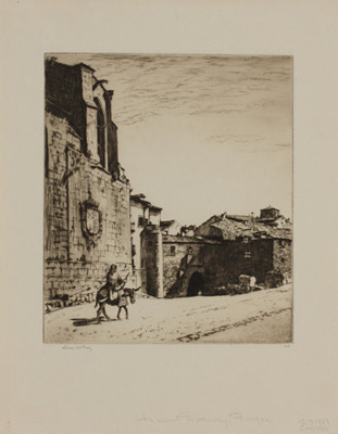 An Ancient Gateway, Burgos; Lionel Lindsay (b.1874, d.1961); 1928; 2016.64