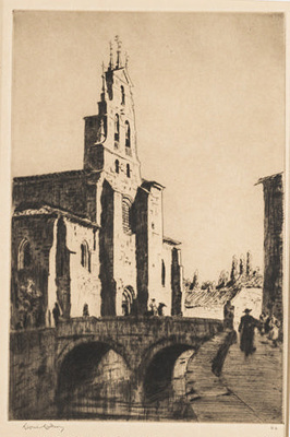 St Lesmes, Burgos; Lionel Lindsay (b.1874, d.1961); 1926; 2016.43