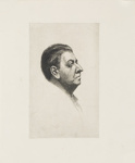 Portrait of Chistopher Brennan; Lionel Lindsay (b.1874, d.1961); Unknown; 2017.352