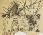 Barbara in the woods; Charles Blackman (Australian, b.1928, d.2018); 2008.016