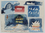 A Memory of Sydney Harbour; Charles Blackman (Australian, b.1928, d.2018); 1981; 2009.081