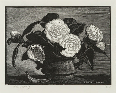 Camellias; Lionel Lindsay (b.1874, d.1961); 1931; 2016.169