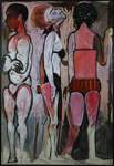 Three bathers; Charles Blackman (Australian, b.1928, d.2018); Circa 1964; 2012.061
