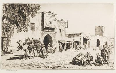 A Caravanserai, Kairouan, Tunisia; Lionel Lindsay (b.1874, d.1961); 1929; 2016.70