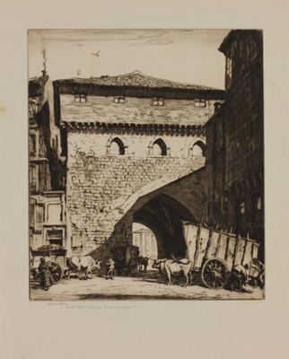 The Town Gate, Burgos; Lionel Lindsay (b.1874, d.1961); 1928; 2016.65