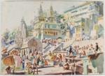 Varanasi India; Lionel Lindsay (b.1874, d.1961); Circa 1930; 2016.208