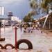 Aftermath of storm - flooded school yard; 0036