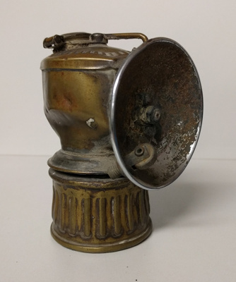 Early miners' carbide lamp; GCM.001.006